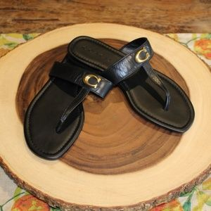 COACH - EUC Black Sandals